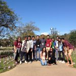 Group tour at Texas A&M University