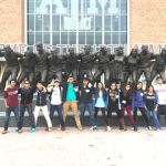 Students visiting Texas A&M.